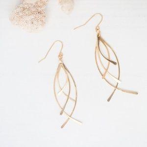 Paris Drops Gold Earrings by Desert Moon Design